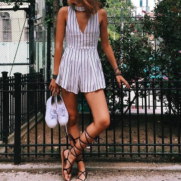 LF Dresses & Skirts - LF striped romper